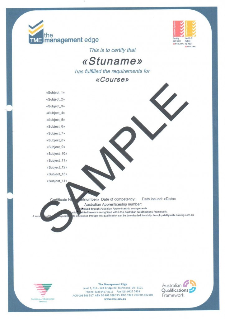 Diploma Sample TME