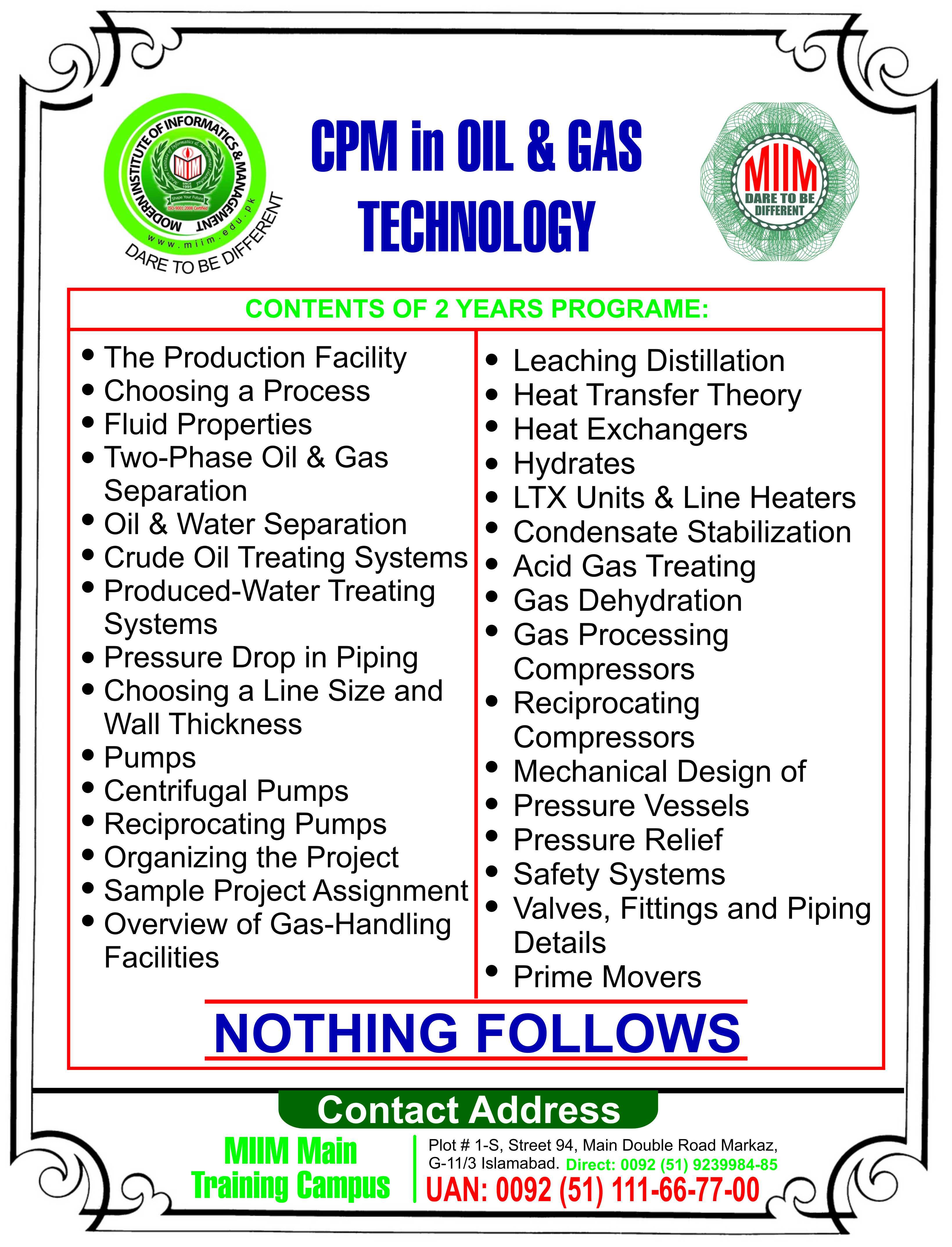 Oil gas petroleum and rig side drilling courses the miim cmp in oil gas technology biocorpaavc