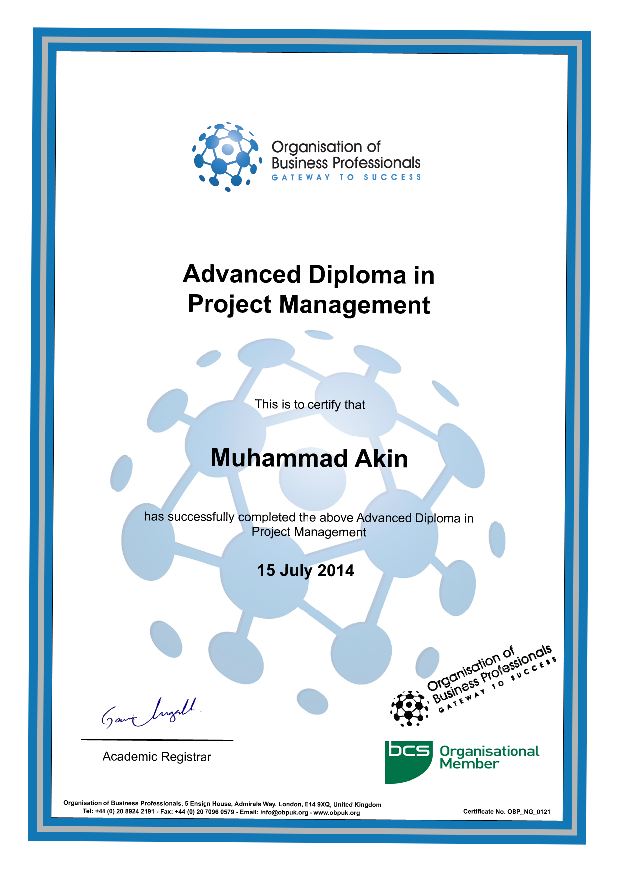 advanced diploma in business management Cima advanced diploma in management accounting home \ course cima managerial level is the second level of the professional qualification and consists of four exams on the right.